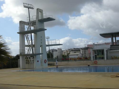 090714訓練營中室外跳水池