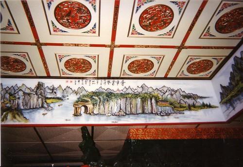 Plafond de restaurant