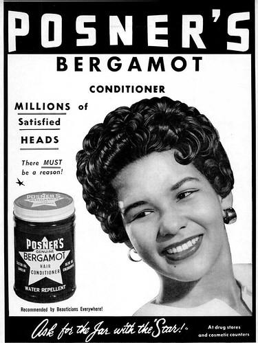 Posners Genuine Bergamot Hair Conditioner Advertisement