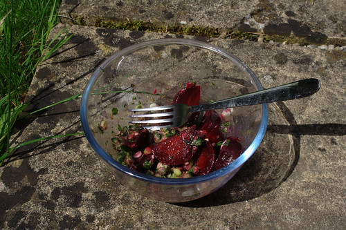 Beetroot with Green sauce