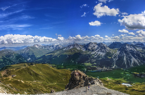 View from Weisshorn