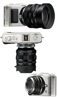 Olympus E-P1 with Voigtlander M mount lenses