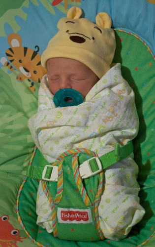 All swaddled up