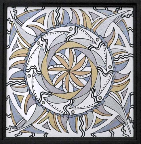 mandala 17 marker & ink on paper (c) 2009, Lynne Medsker