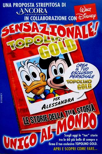 Volantino pubblicitario, Topolino Gold, 1