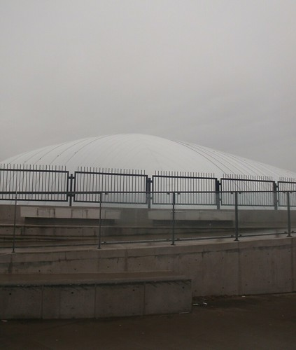White Dome, and Grey Sky