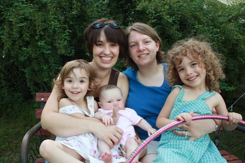 Heidi, Karyn, and Raina, Hannie and Piper