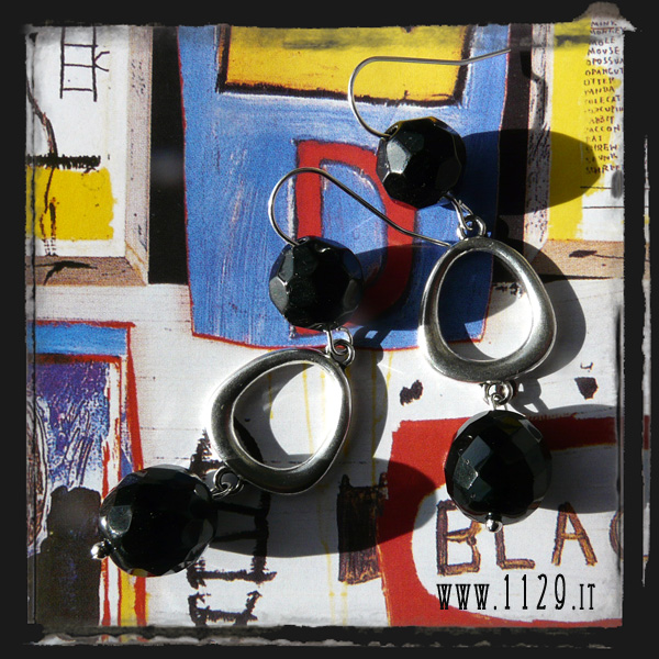 orecchini neri - black earrings INBLACK