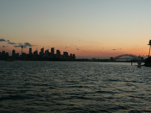 Sunset behind the Sydney skyline