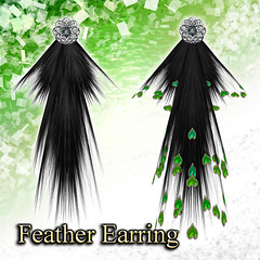 Feather Earring (Tree)