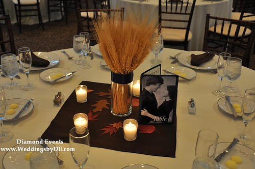Fall wheat centerpieces