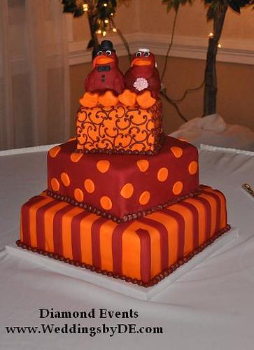 Virginia Tech Hokie Bird Wedding Cake