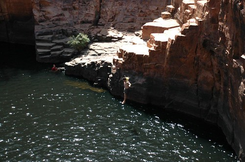 Cliff jumping Graham