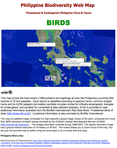 philippine biodiversity webmap