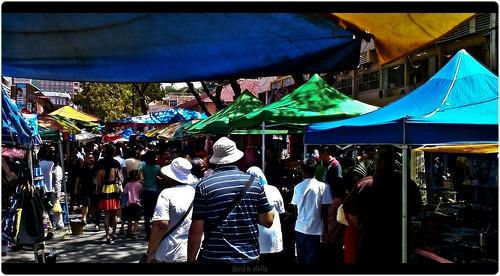 Sunday market at Gaya Street, Kota Kinabalu