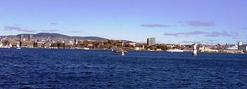 Panorama shoreline of Oslo City
