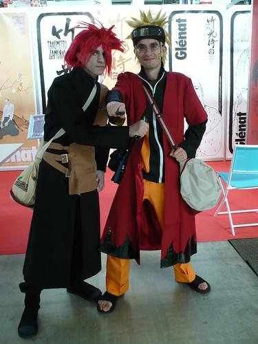 Gaara y Naruto
