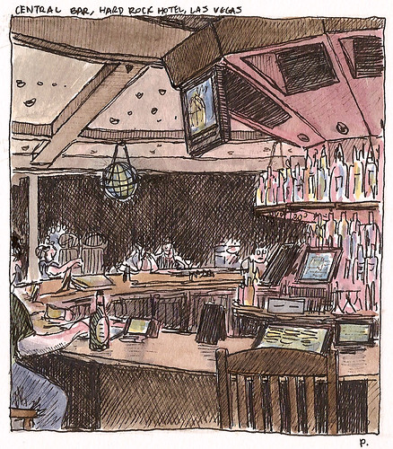 central bar, hard rock Las Vegas