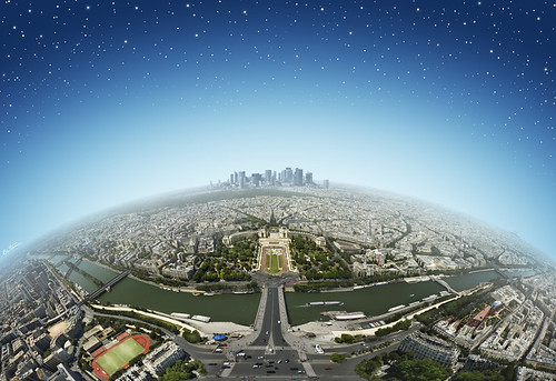 Paris from the Eiffel Tower by Ben Heine.
