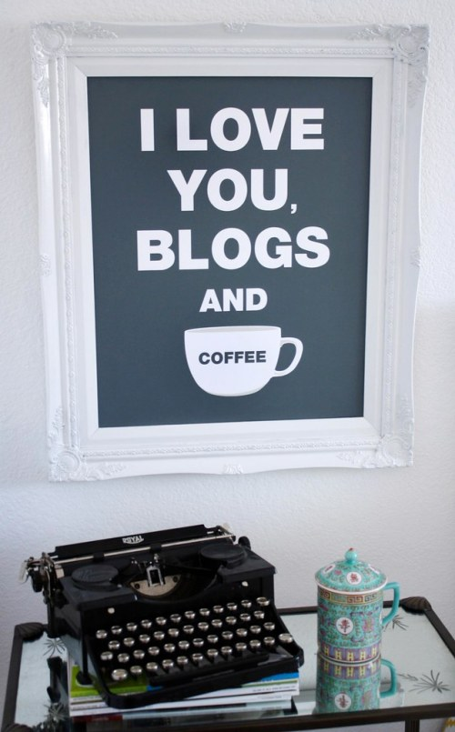 I Love You Blogs + Coffee