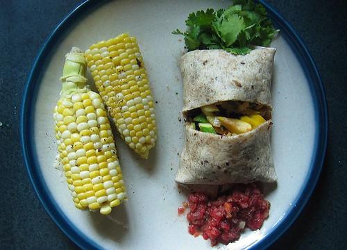 summer squash burritos