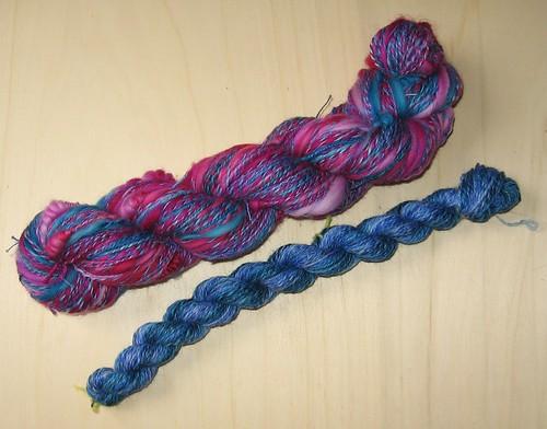 Art Yarn blau pink II