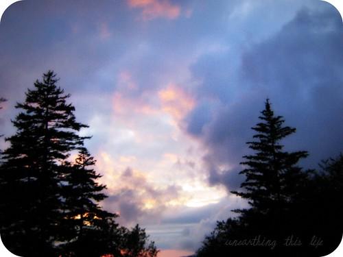 sunset on smokies