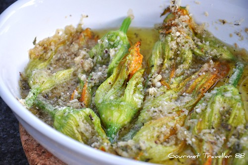 Baked Zucchini Blossoms