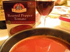Awesome roasted pepper tomato soup!