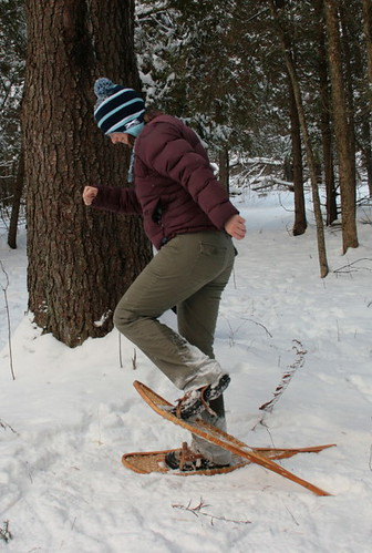 Demonstrating the snowshoe