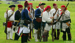 The French side prepares - Plains of Abraham Re-Enactment, Founders Day 2009, Ogdensburg, New York
