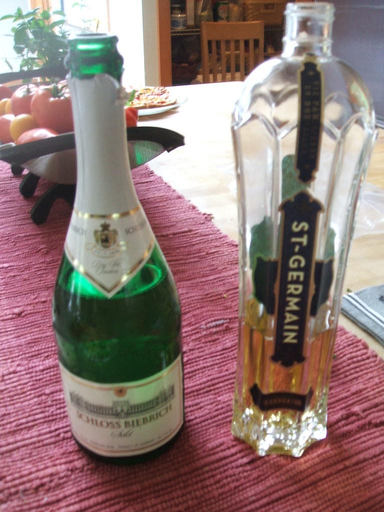 St. Germain elderflower cocktail fixings