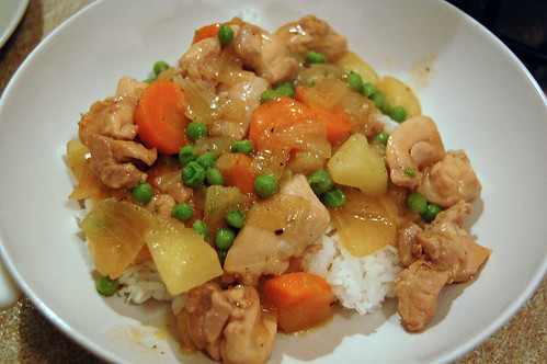 Asian-Style Chicken Stew on Rice