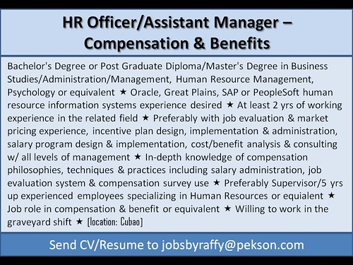 HR Officer / Assistant Manager