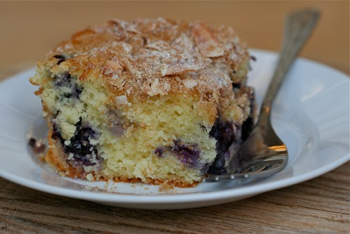 Blueberry Cake with Coconut Streusel 3