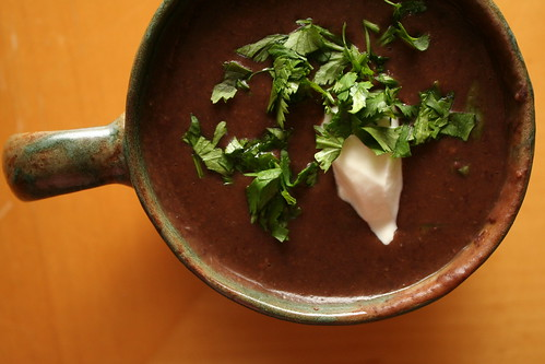 Slow Cooked Black Bean Soup
