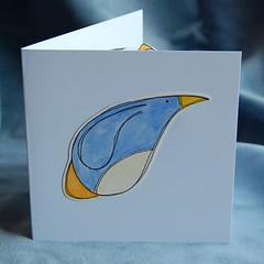 penguin pop-up card PF07 a
