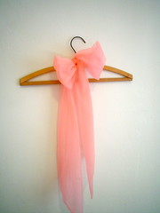 vintage Silk Chiffon Scarf in Cotton Candy Pink