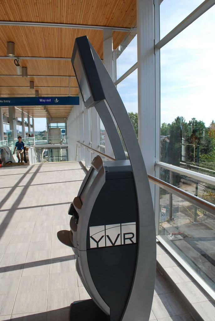 YVR check-in kiosk at Marine Drive Station