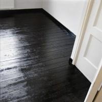 Paper Flower Girl: Bedroom progress | Black floors