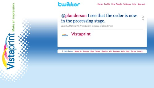 Tech - Zazzle vs Vistaprint Twitter Support Example 8