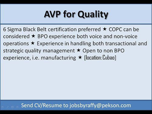 AVP for Quality