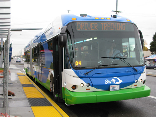 Swift bus at Airport Road (photo by author)