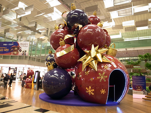Singapore Changi Airport Terminal 3 Transit Area Christmas Decorations