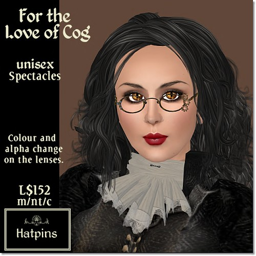 Hatpins - For the Love of Cog Specs - Brassy