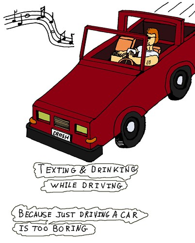 Drinking & texting while driving