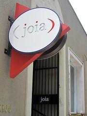 joia restaurant - sign