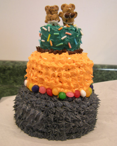 Kristys Cake. Showoff. The only one of us who has actually taken cake decorating classes.