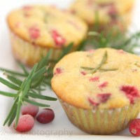 Orange Cranberry Rosemary Muffins