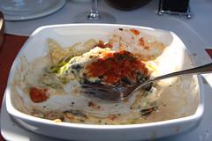 Seafood lasagna - mostly complete, delicious, ...